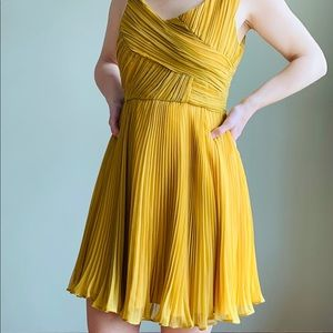 Dresses & Skirts - Minuet Yellow Pleated Wedding Guest Dress